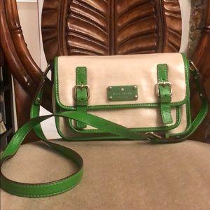 Kate Spade cross body bag green.